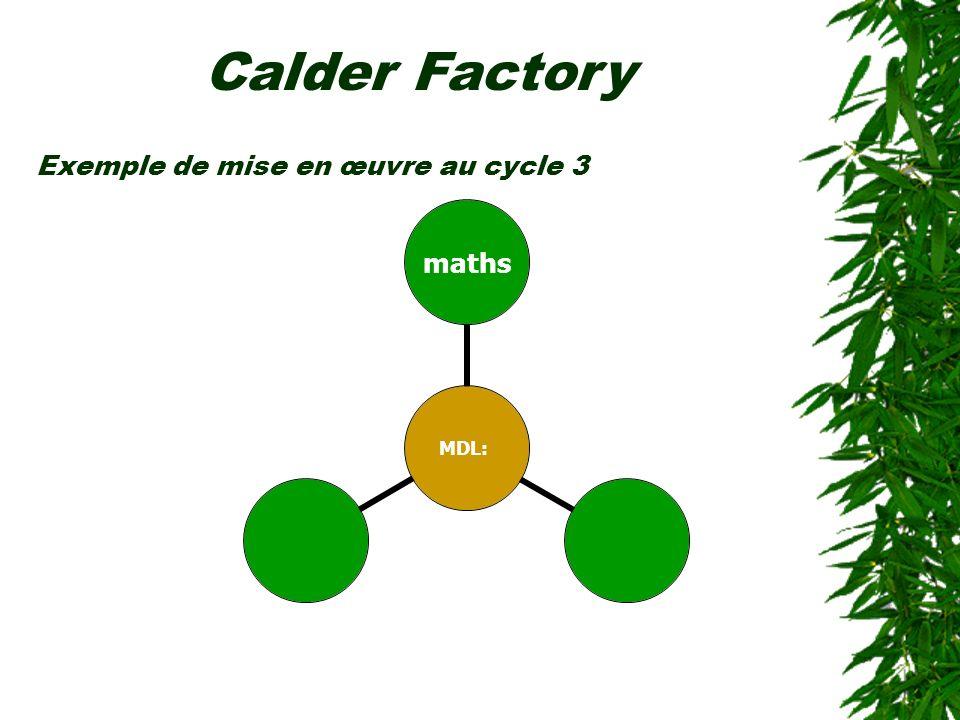 Exemple de mise en œuvre au cycle 3