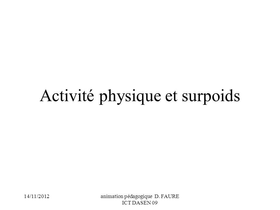 Activité physique et surpoids