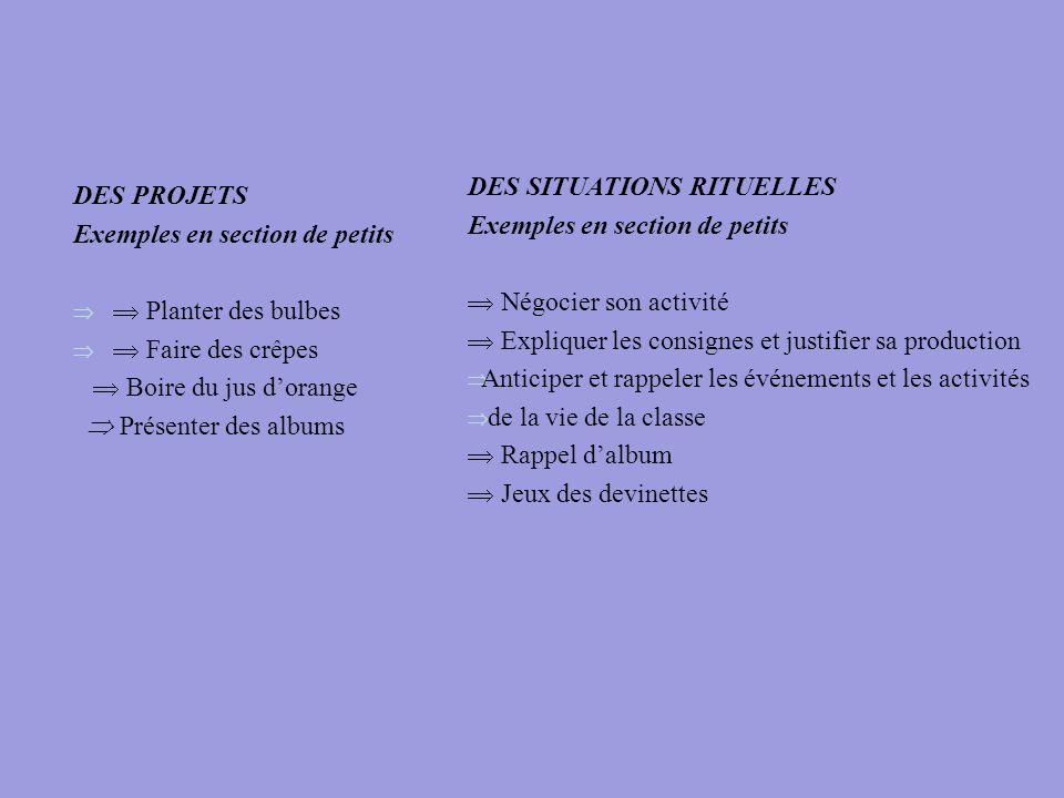 DES SITUATIONS RITUELLES