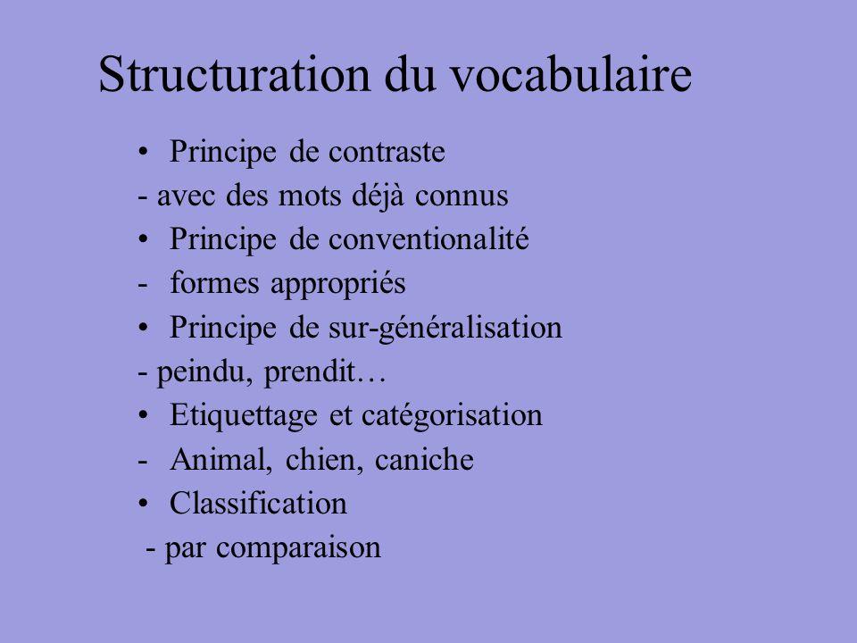 Structuration du vocabulaire