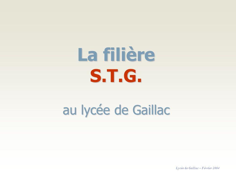 La filière S.T.G. au lycée de Gaillac