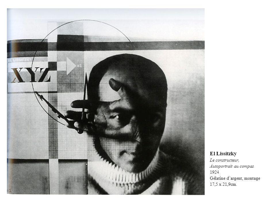 El Lissitzky Le constructeur, Autoportrait au compas 1924