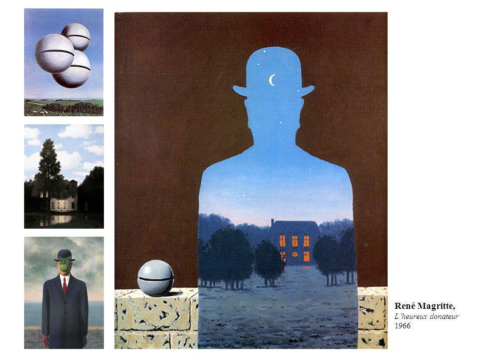 René Magritte, L'heureux donateur 1966