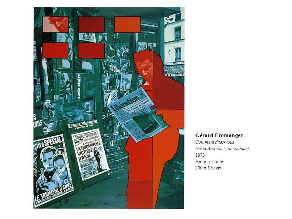Gérard Fromanger Comment dites-vous (série Annoncez la couleur). 1973