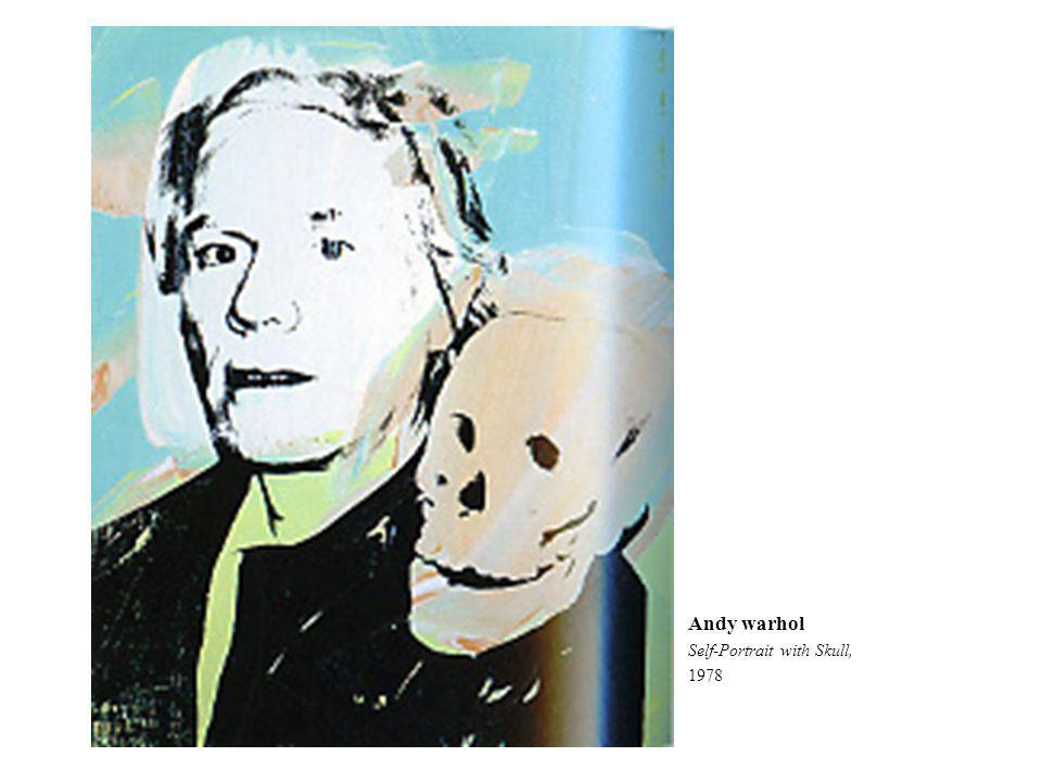 Andy warhol Self-Portrait with Skull, 1978