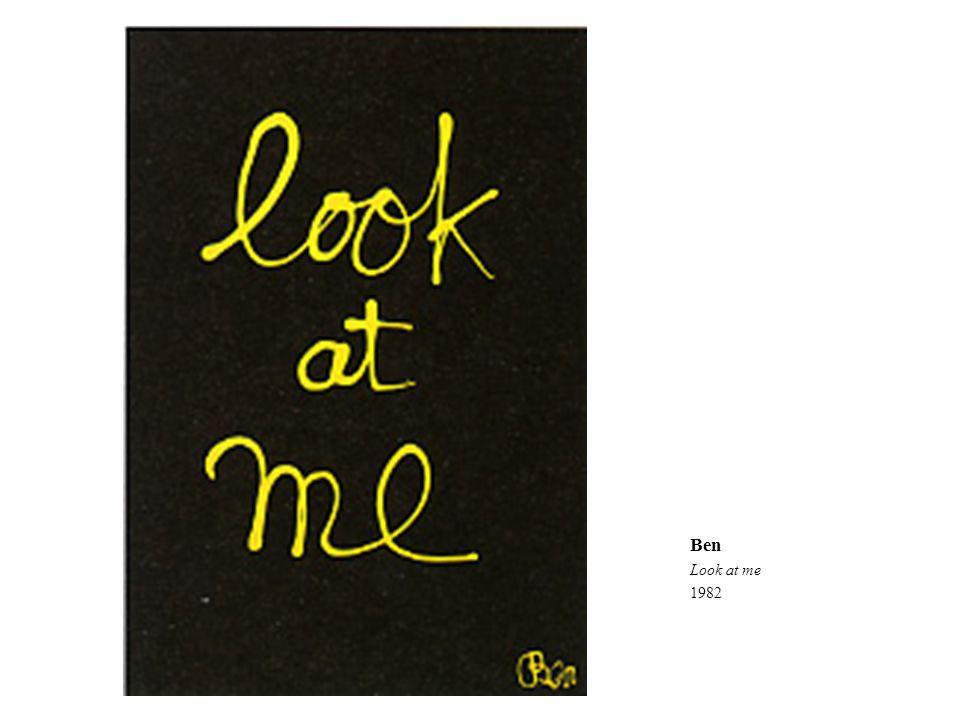 Ben Look at me 1982