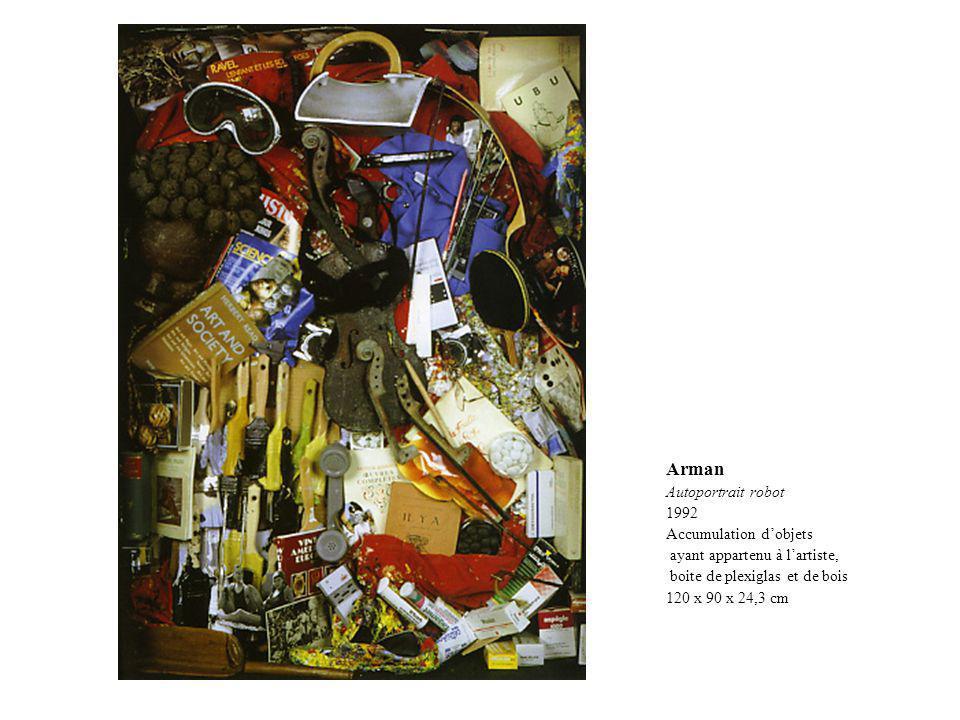 Arman Autoportrait robot 1992 Accumulation d'objets