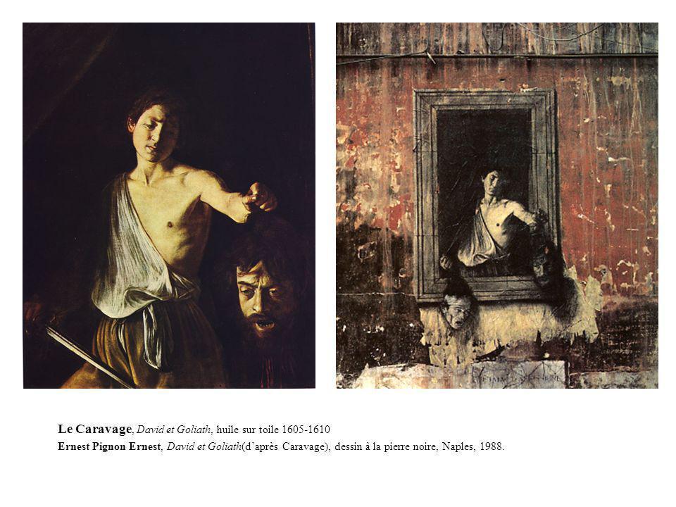Le Caravage, David et Goliath, huile sur toile 1605-1610