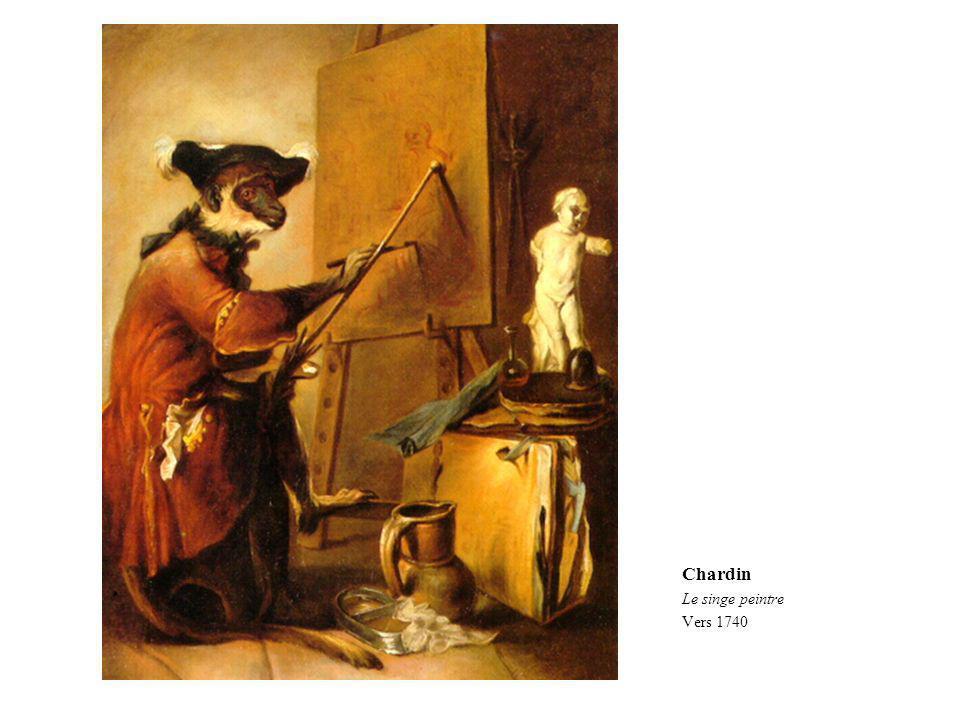 Chardin Le singe peintre Vers 1740