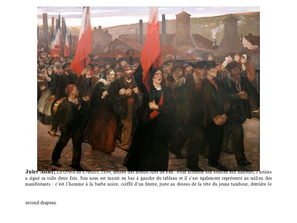 Jules Adler, La Grève au Creusot, 1899, musée des Beaux-Arts de Pau
