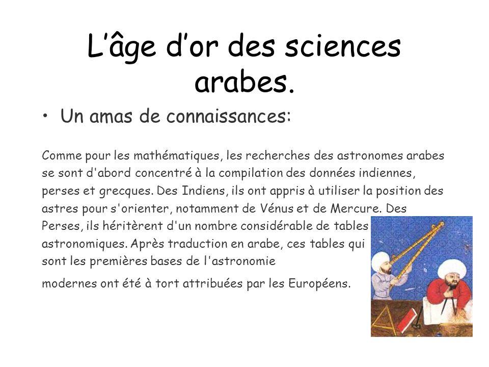 L'âge d'or des sciences arabes.