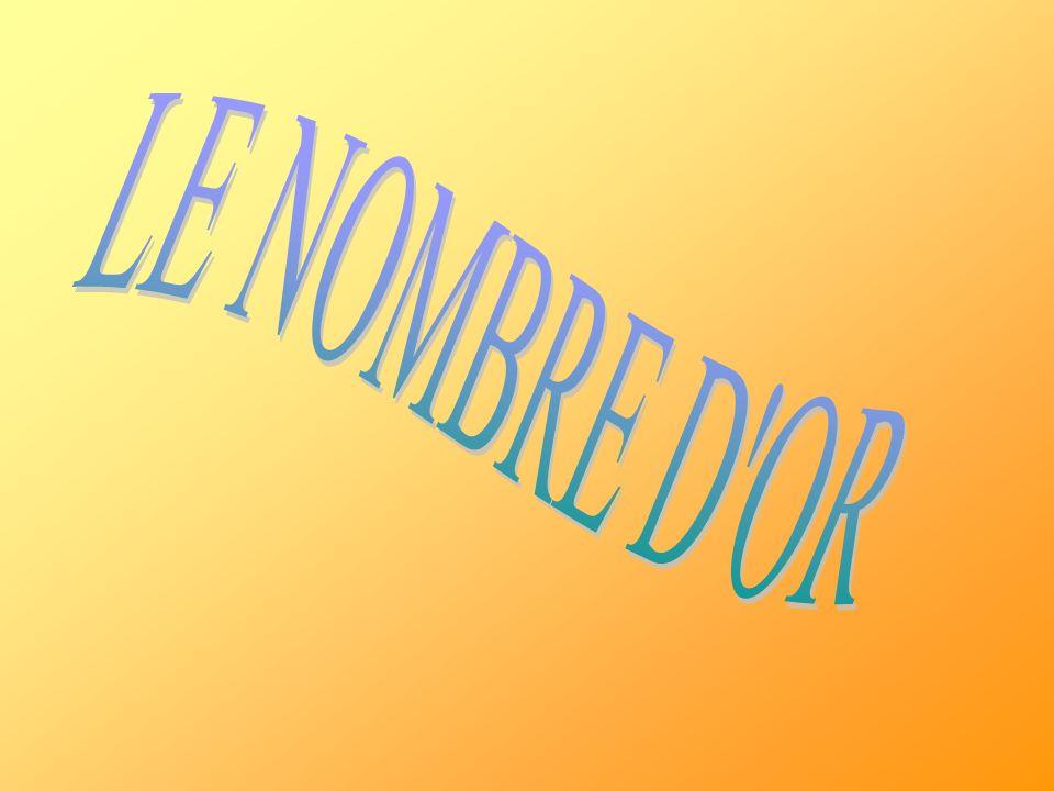 LE NOMBRE D OR