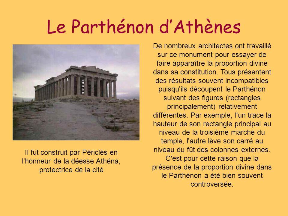 Le Parthénon d'Athènes