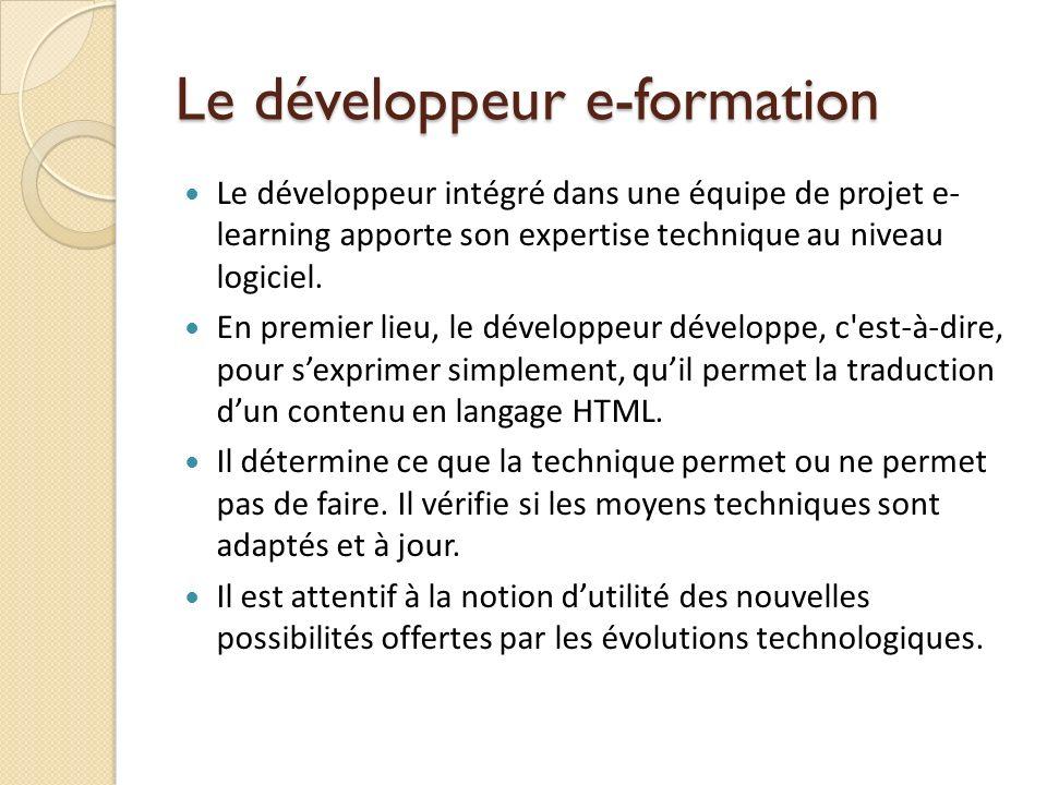 Le développeur e-formation