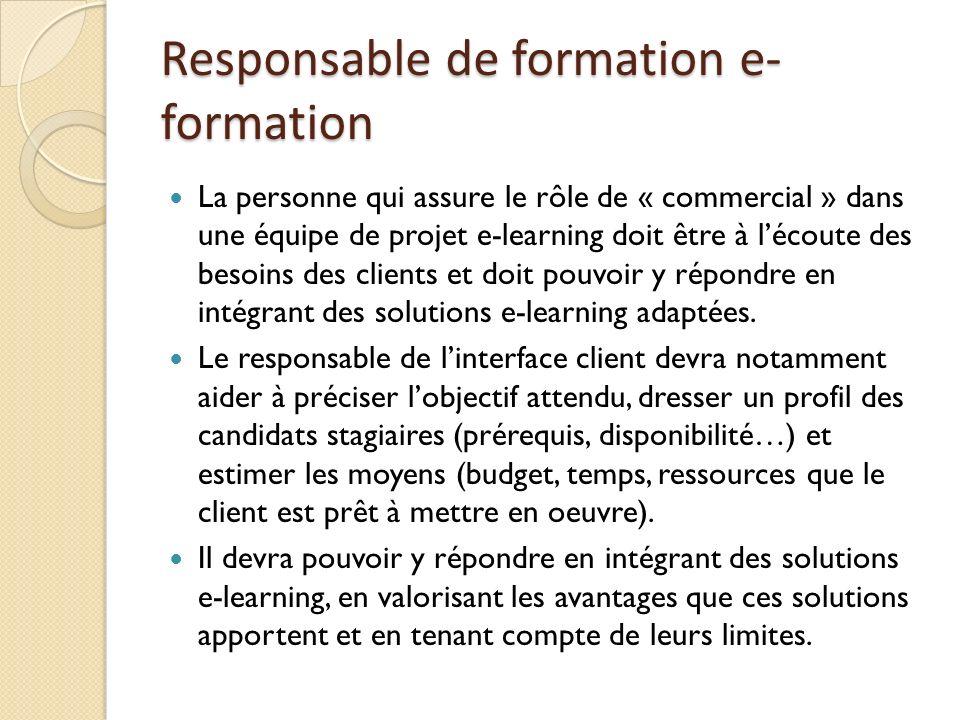 Responsable de formation e-formation