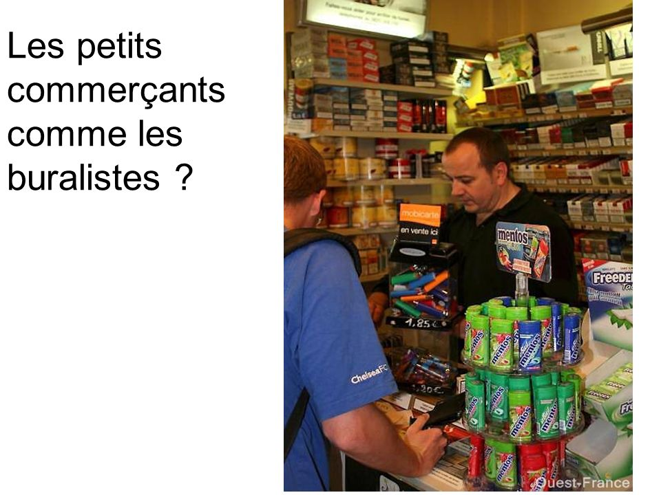 Les petits commerçants comme les buralistes
