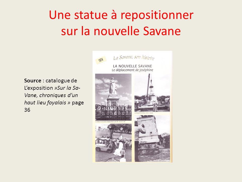 Une statue à repositionner sur la nouvelle Savane
