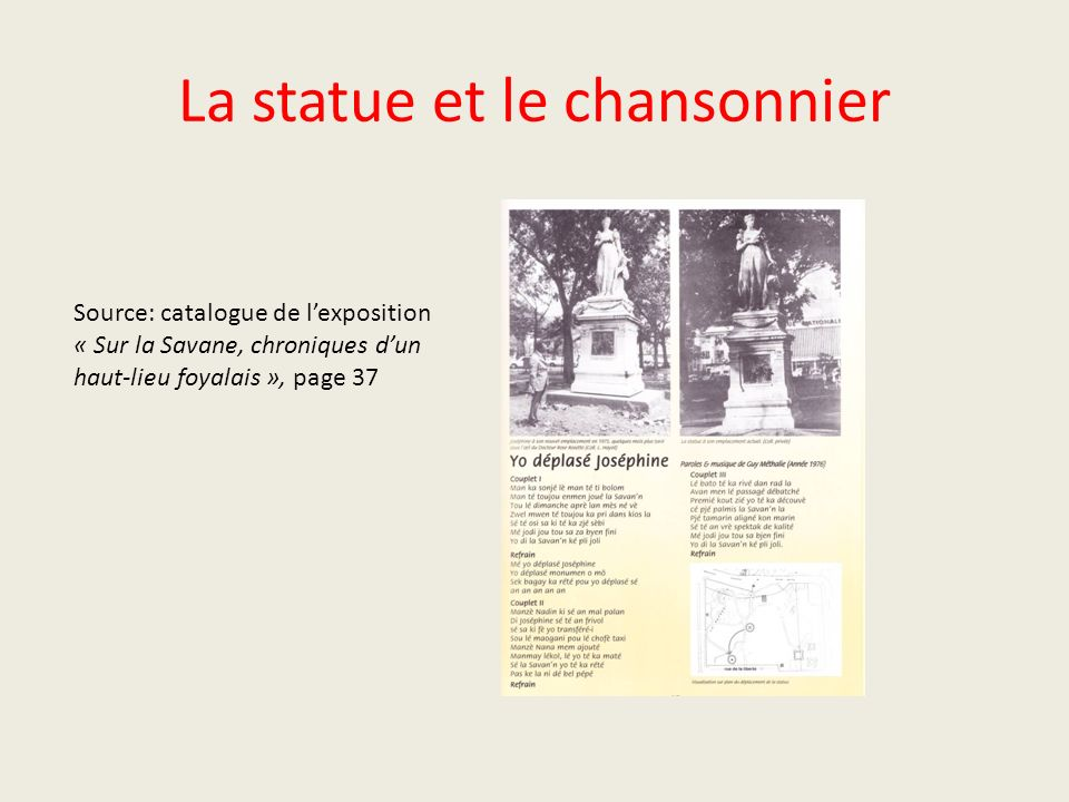 La statue et le chansonnier