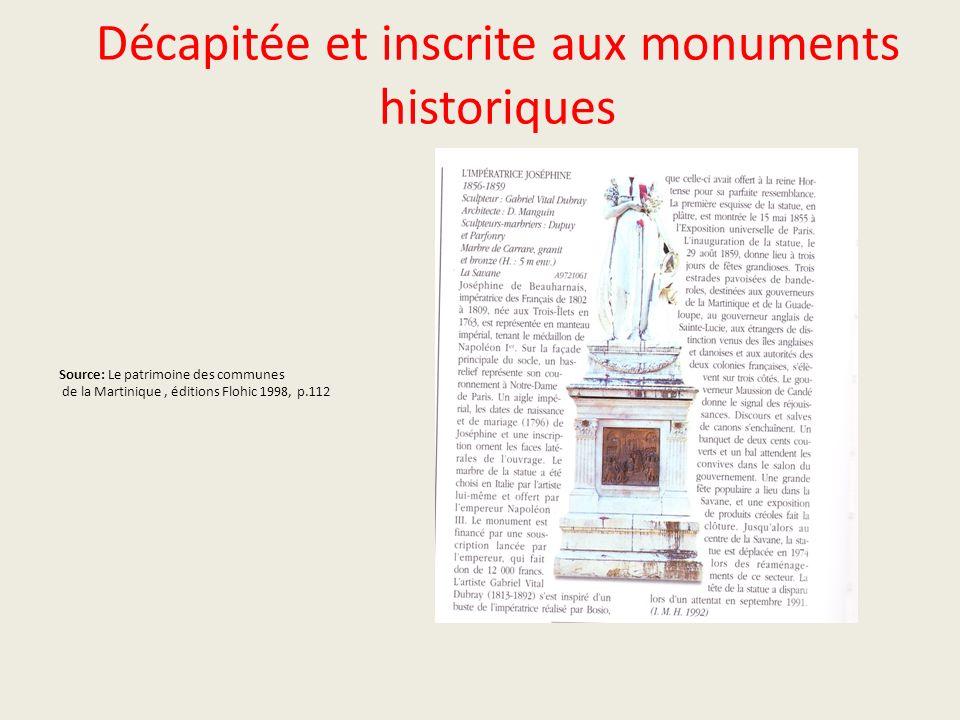 Décapitée et inscrite aux monuments historiques