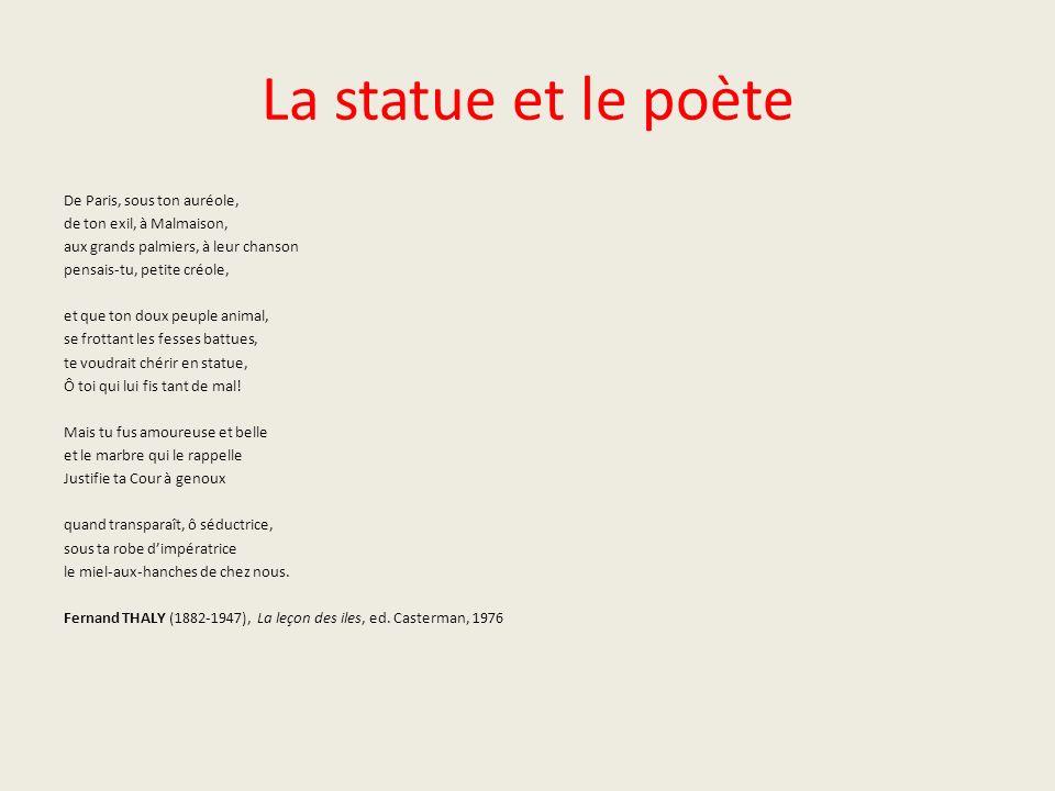 La statue et le poète De Paris, sous ton auréole,