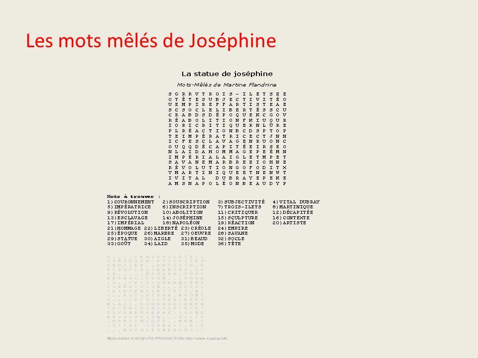 Les mots mêlés de Joséphine