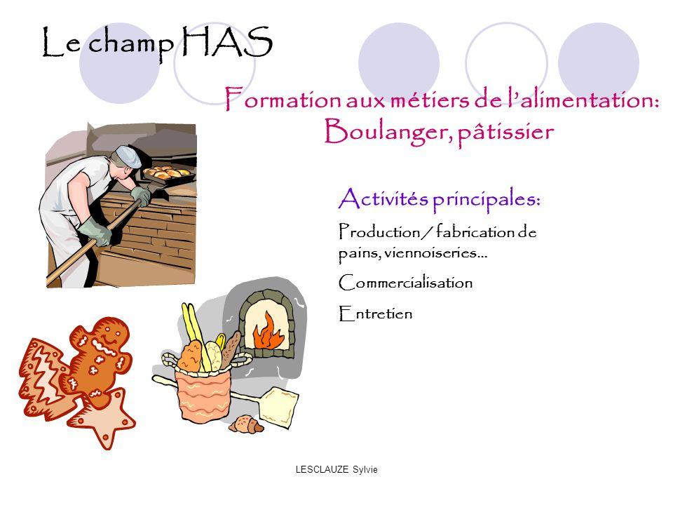 Formation aux métiers de l'alimentation: Boulanger, pâtissier