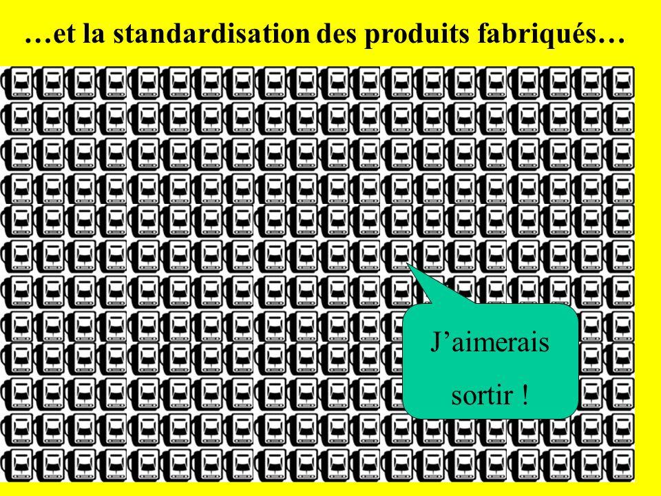 …et la standardisation des produits fabriqués…