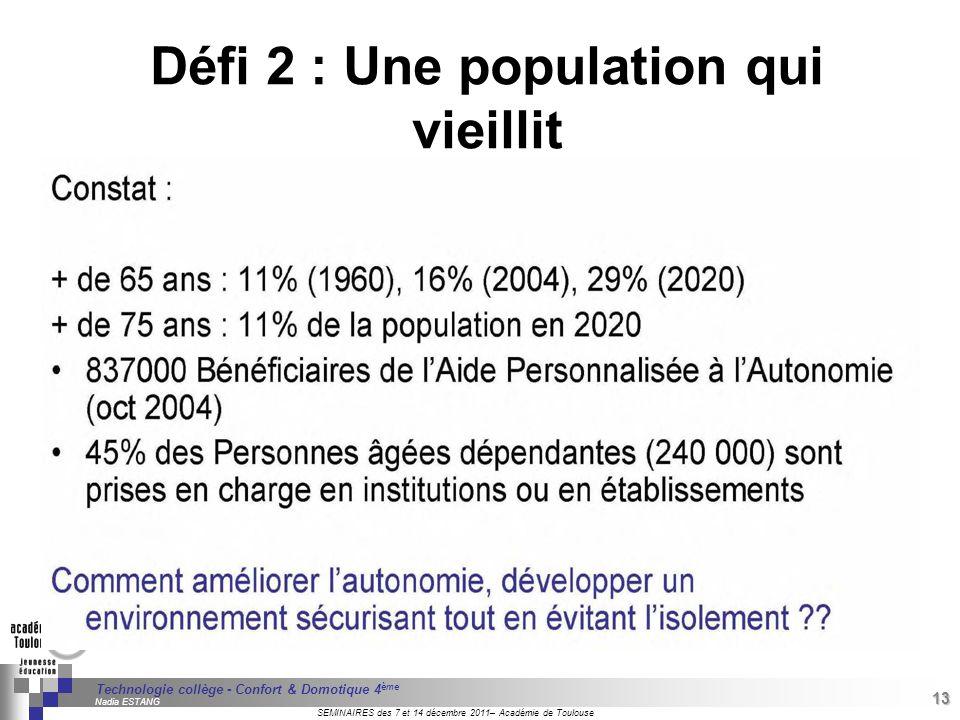 Défi 2 : Une population qui vieillit