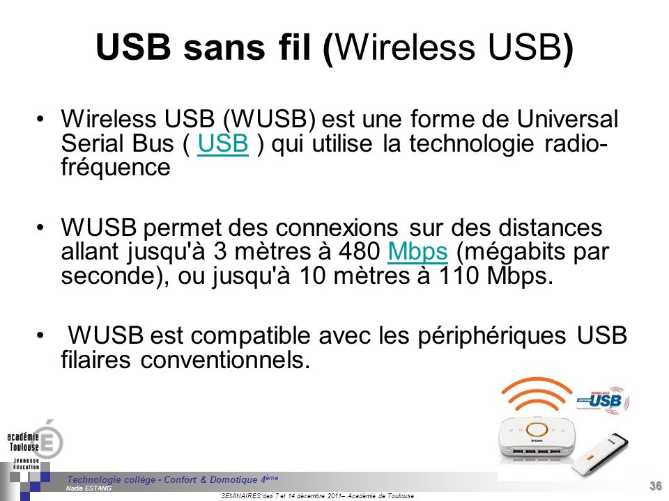 USB sans fil (Wireless USB)