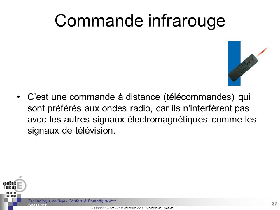 Commande infrarouge