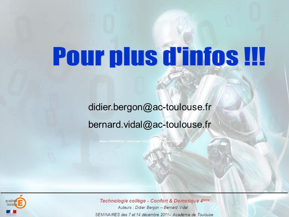 Pour plus d infos !!! didier.bergon@ac-toulouse.fr