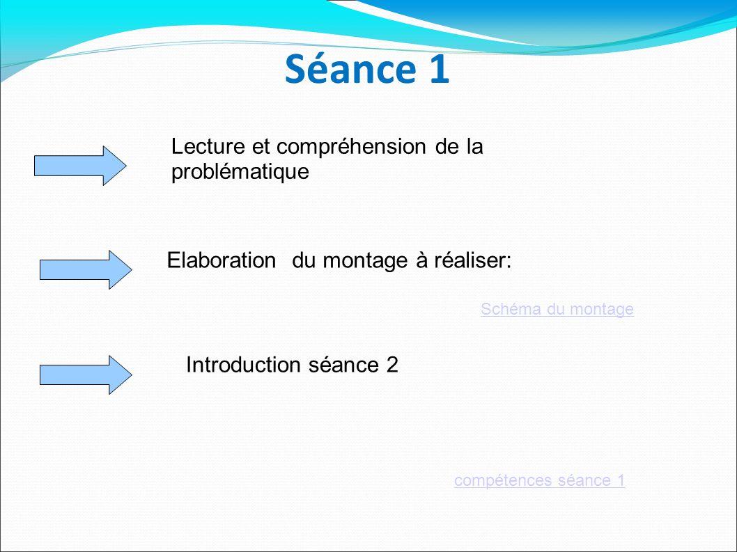 Séance 1 Lecture et compréhension de la problématique
