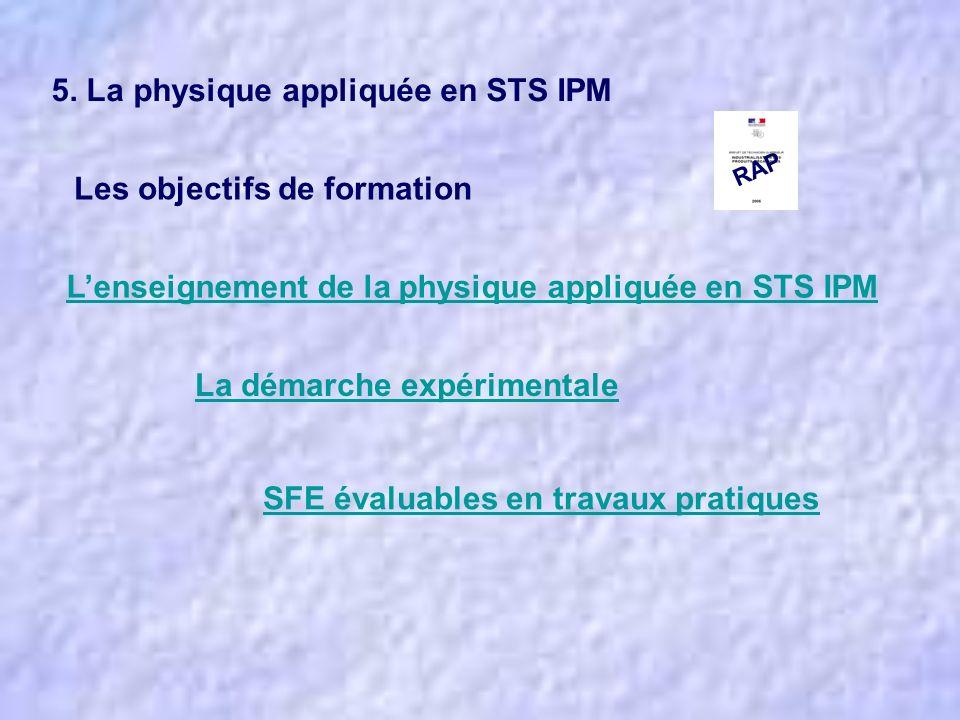 5. La physique appliquée en STS IPM