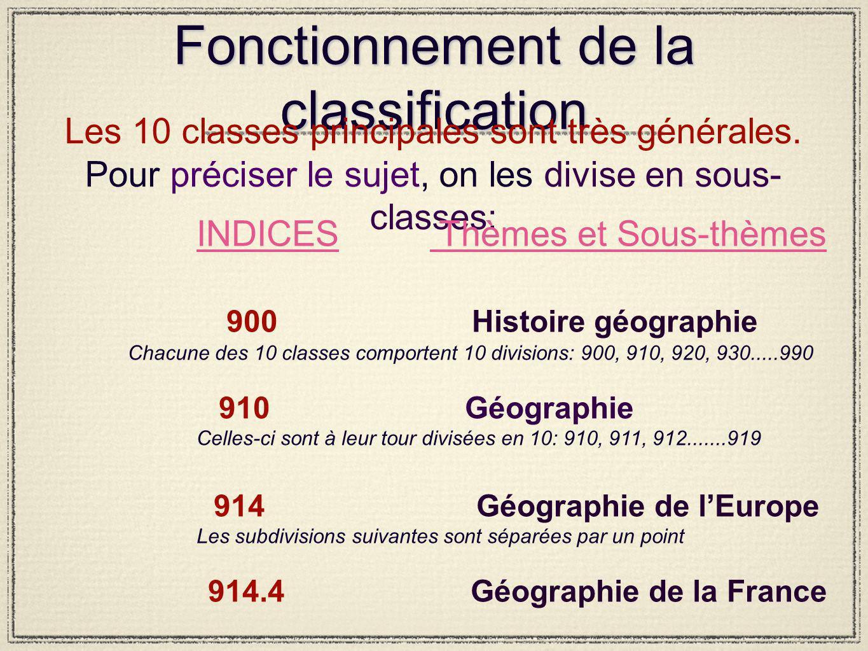 Fonctionnement de la classification