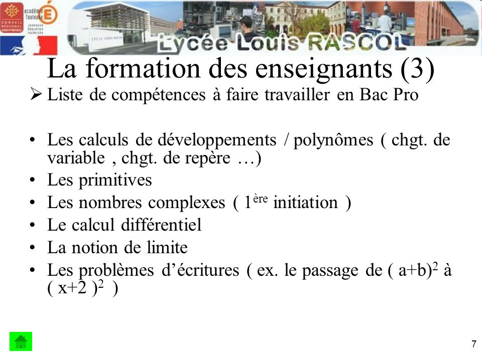 La formation des enseignants (3)