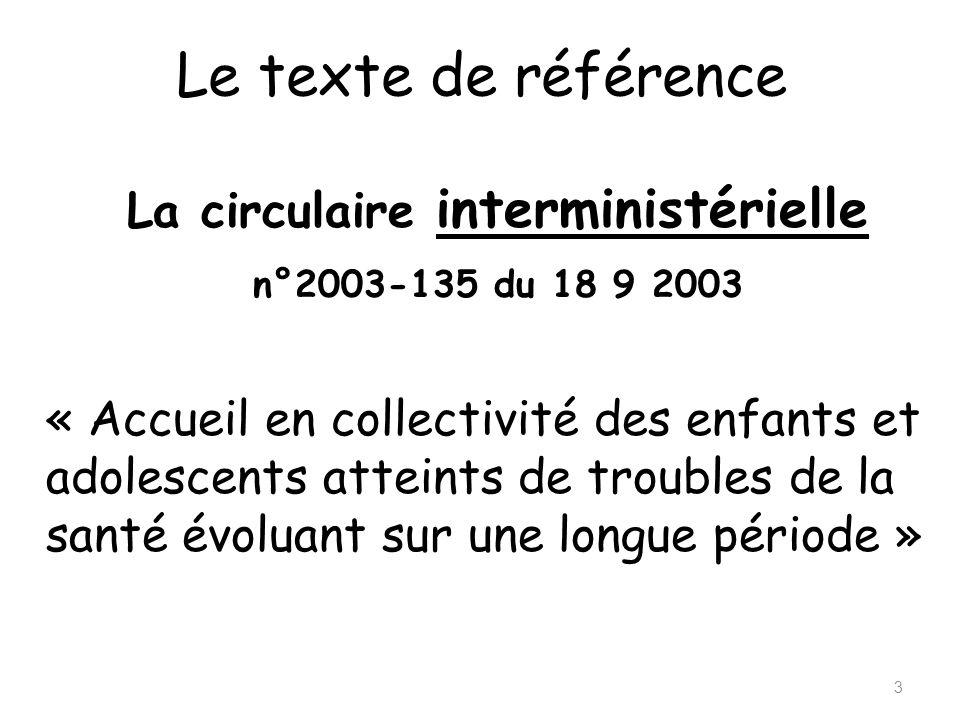 La circulaire interministérielle