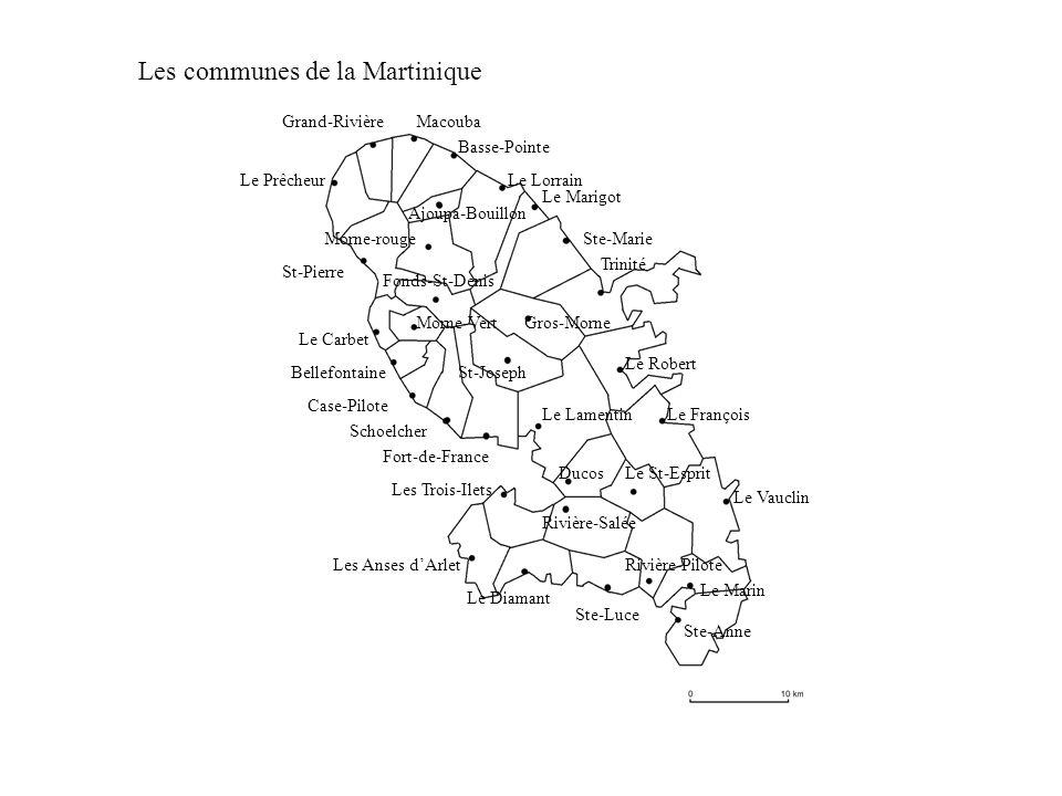 Les communes de la Martinique