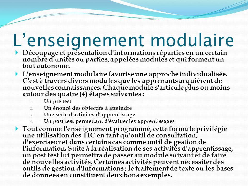 L'enseignement modulaire