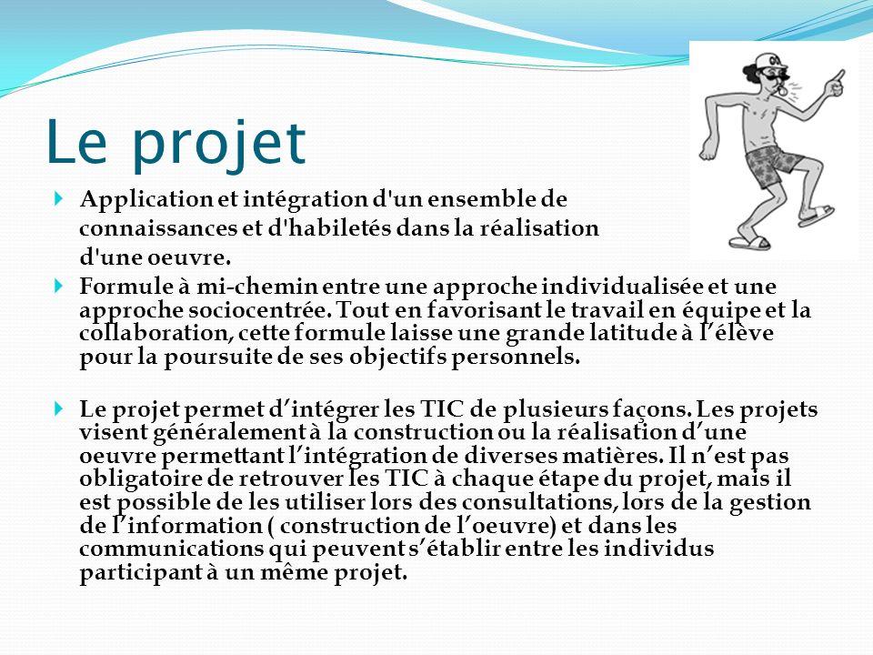 Le projet Application et intégration d un ensemble de