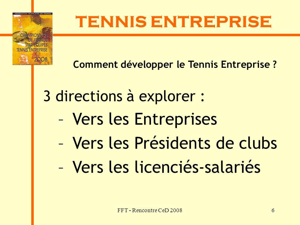 Comment développer le Tennis Entreprise