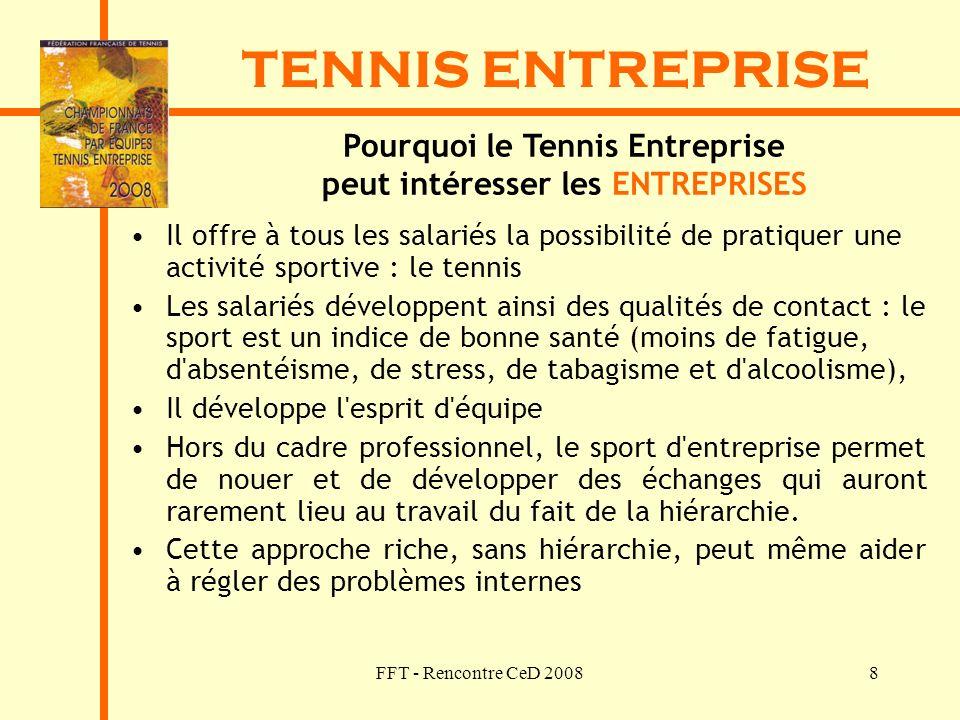 Pourquoi le Tennis Entreprise peut intéresser les ENTREPRISES
