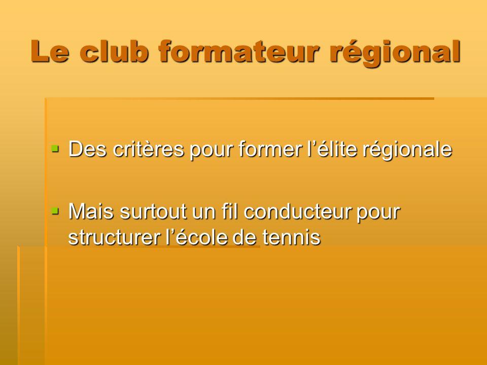Le club formateur régional