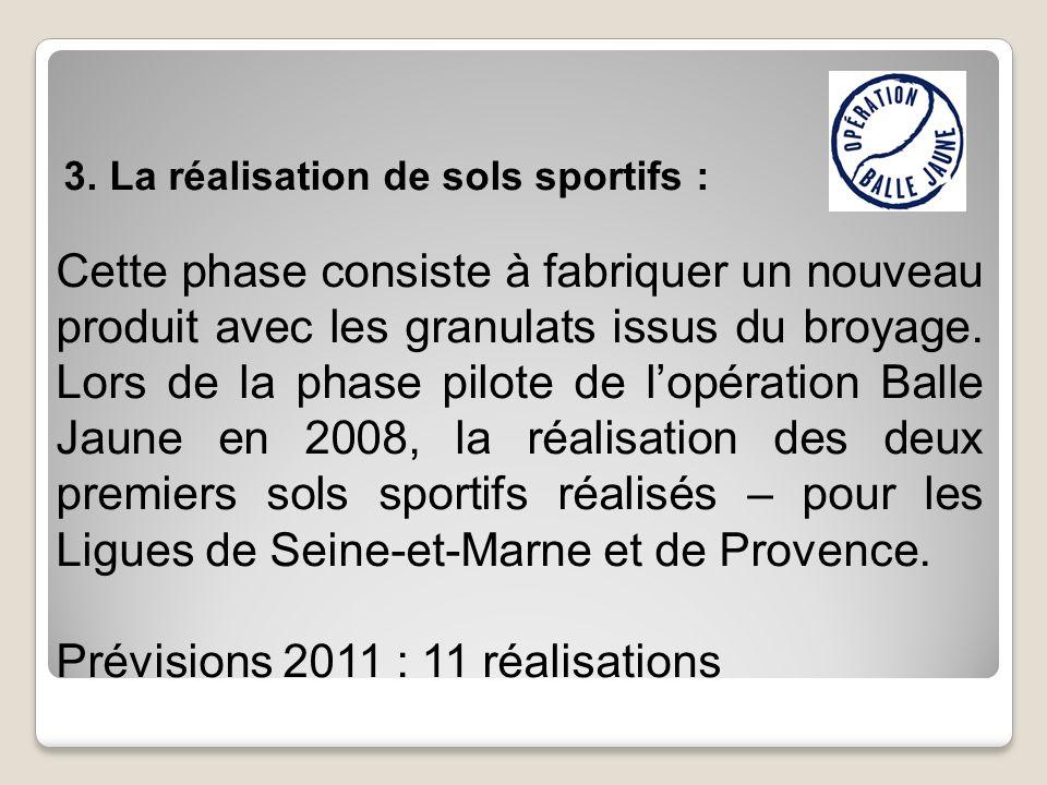 Prévisions 2011 : 11 réalisations