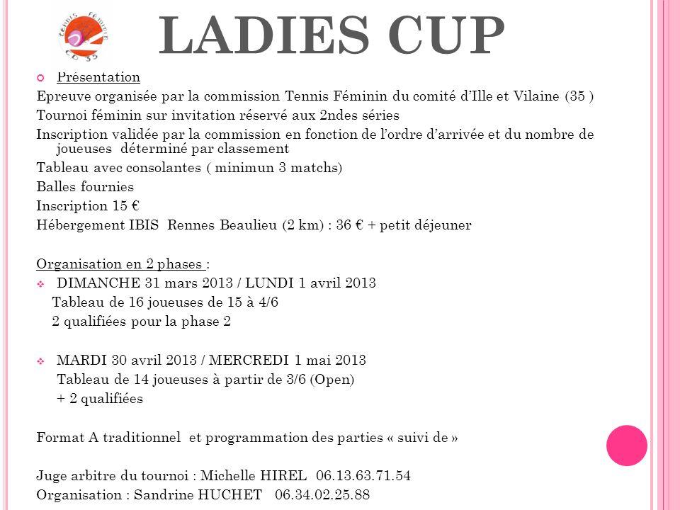 LADIES CUP Présentation