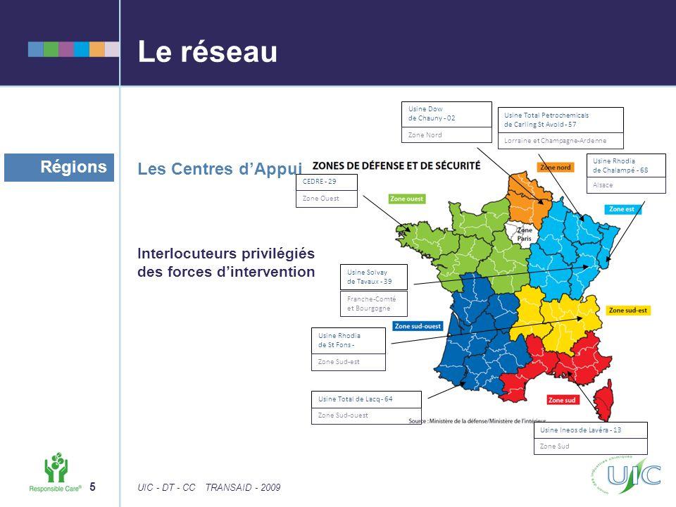 Le réseau Régions Les Centres d'Appui Interlocuteurs privilégiés