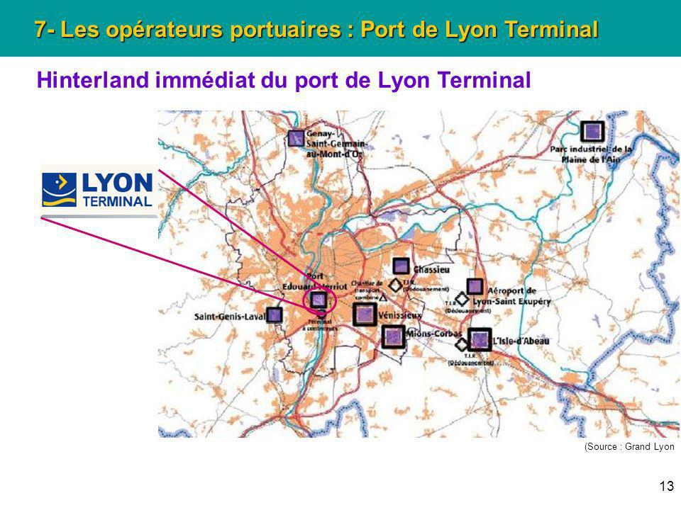 7- Les opérateurs portuaires : Port de Lyon Terminal