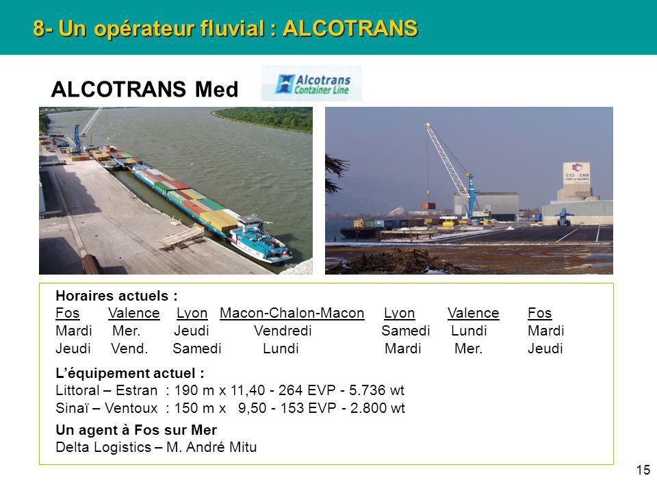 8- Un opérateur fluvial : ALCOTRANS