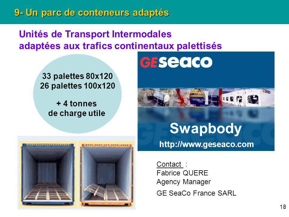 Swapbody 9- Un parc de conteneurs adaptés