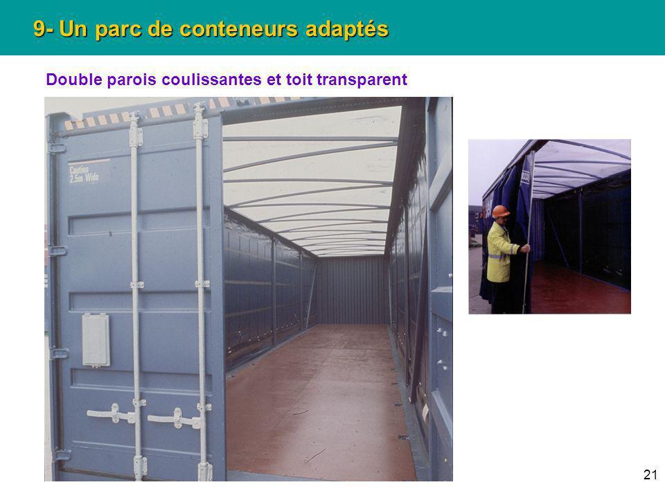 9- Un parc de conteneurs adaptés