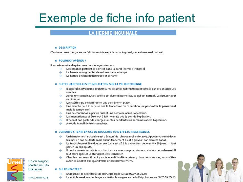 Exemple de fiche info patient